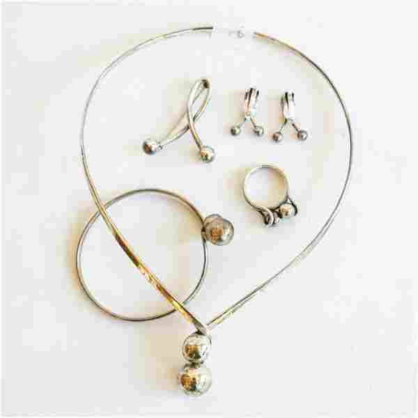 MIDCENTURY-STYLE STERLING SILVER JEWELRY