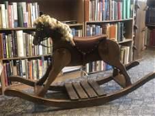 FOLK ART ROCKING HORSE