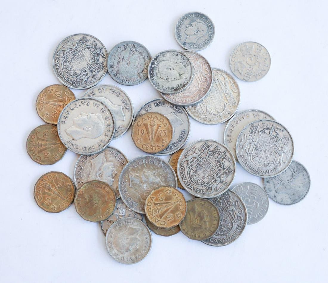 CANADIAN WWII ERA COINS