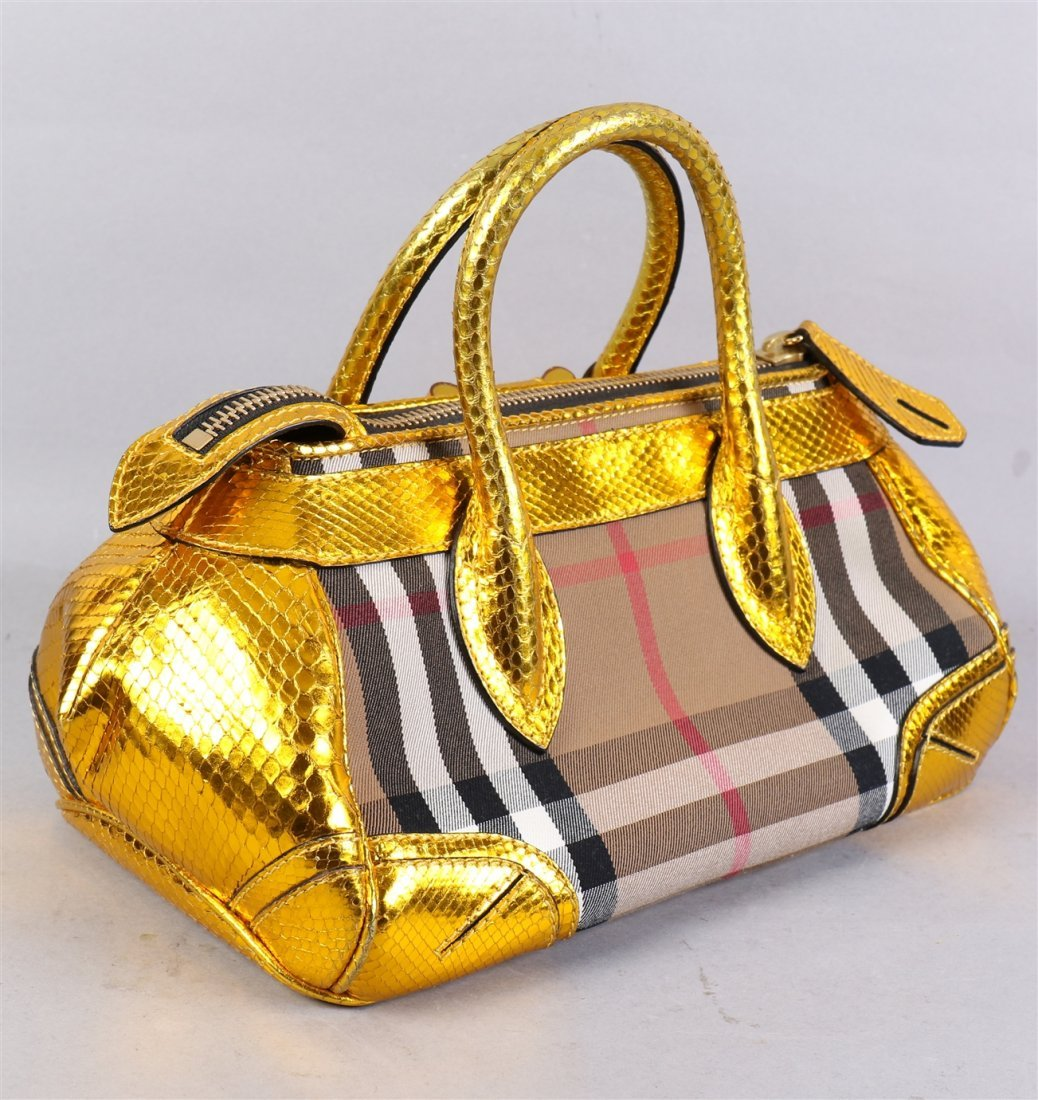Burberry Prorsum Blaze In Metallic Python And Vinyl