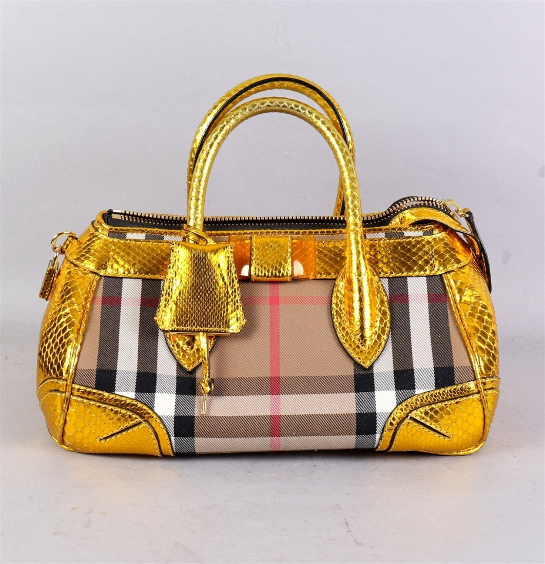 Burberry Prorsum Blaze In Metallic Python And Vinyl - 2