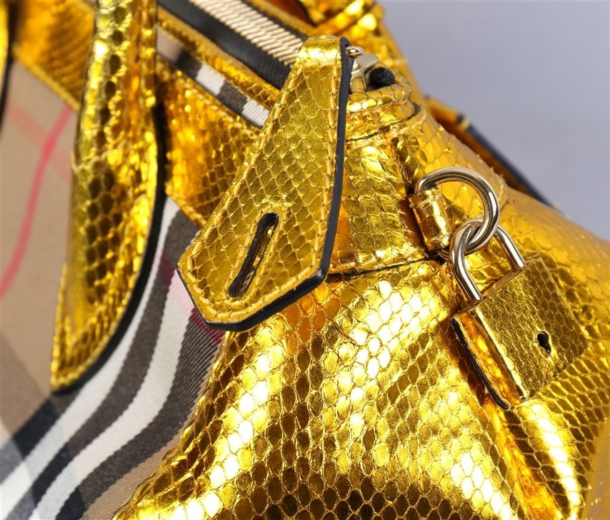 Burberry Prorsum Blaze In Metallic Python And Vinyl - 3
