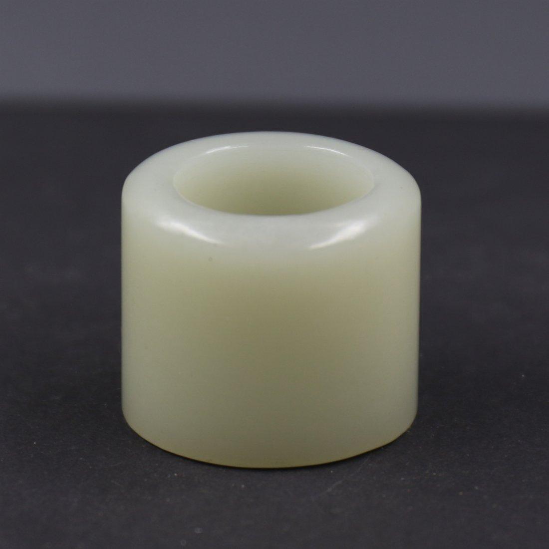 Chinese White Jade Ring.