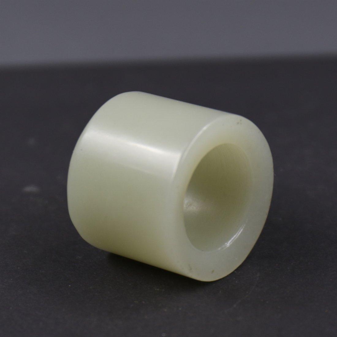 Chinese White Jade Ring. - 2