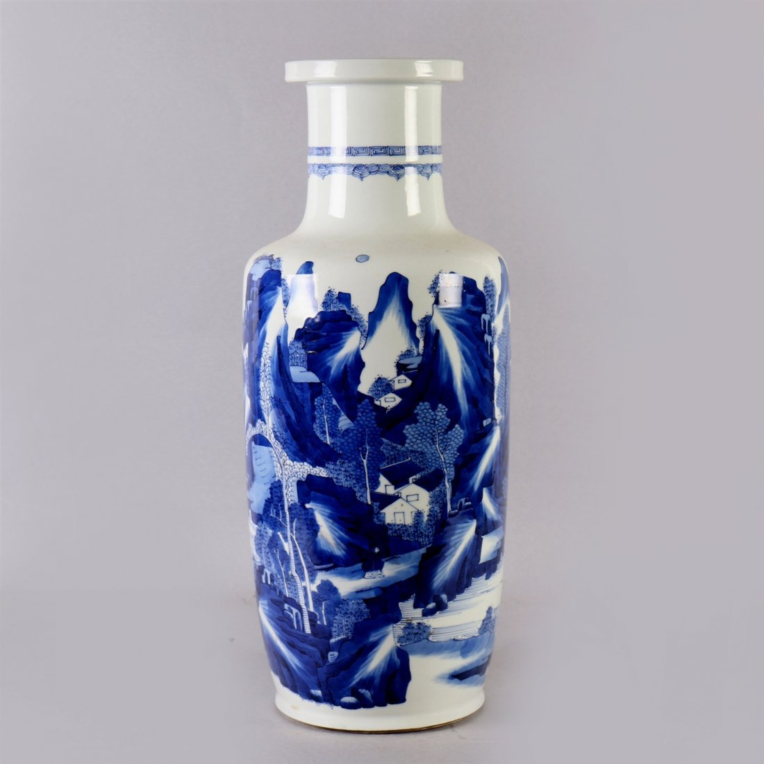 Chinese blue-white porcelain vase.