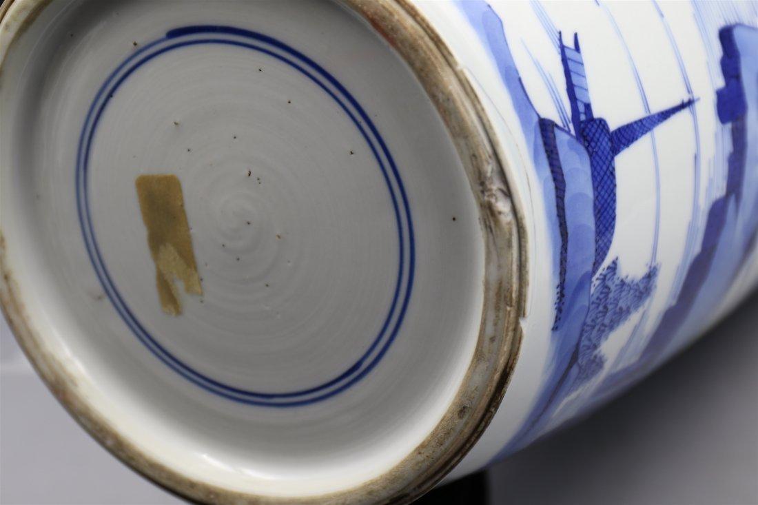Chinese blue-white porcelain vase. - 6
