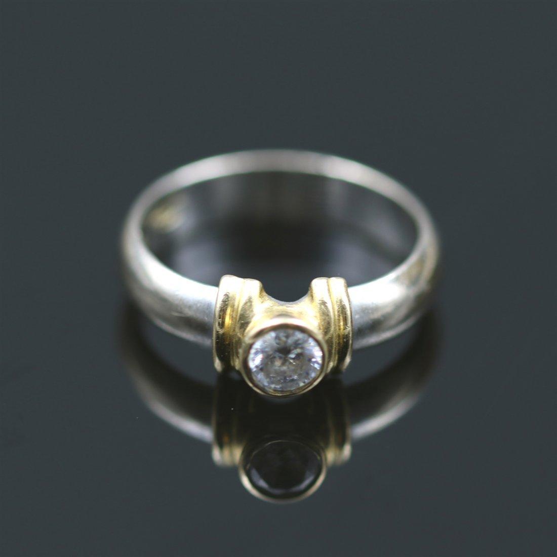 18k Yellow / White Gold Ring.
