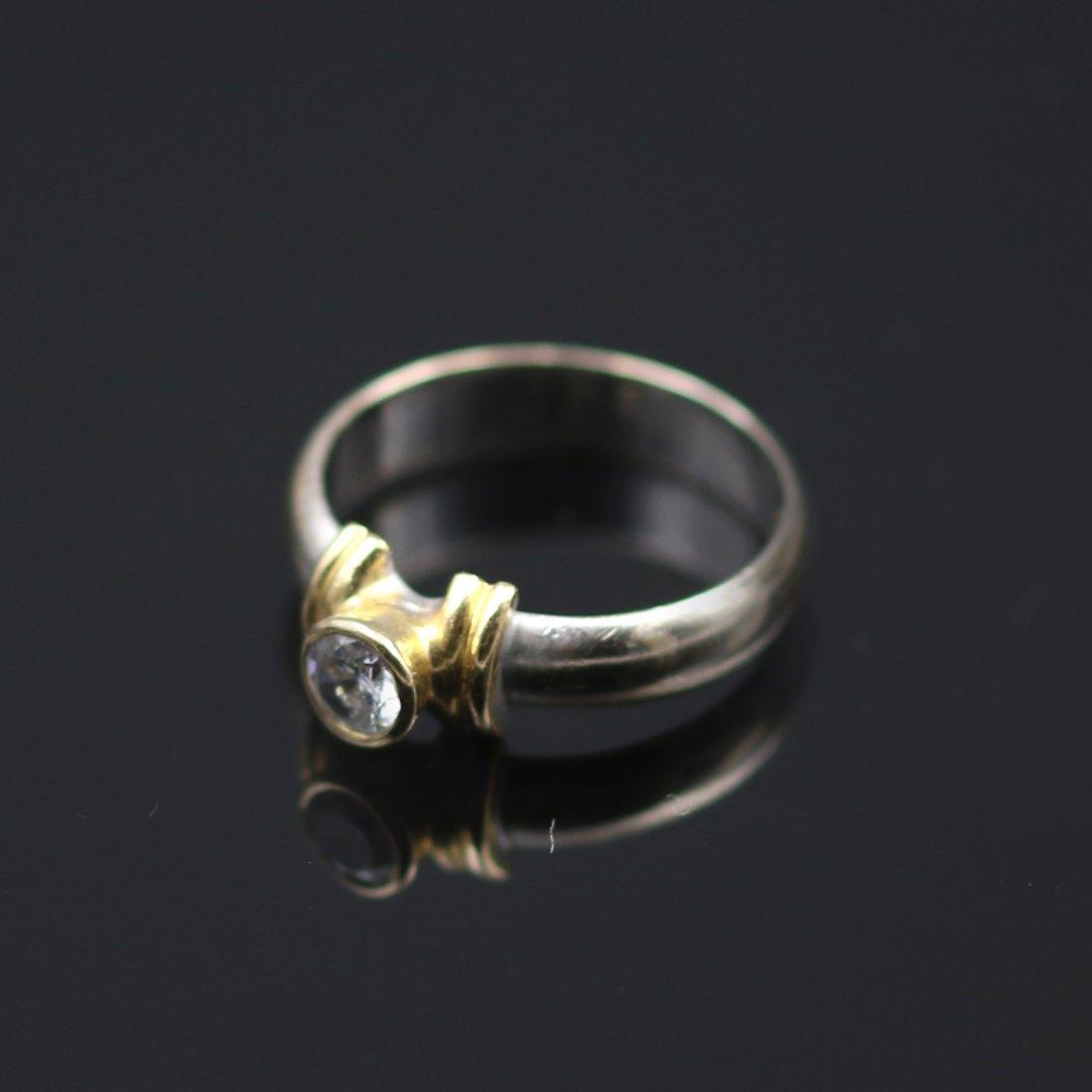 18k Yellow / White Gold Ring. - 2