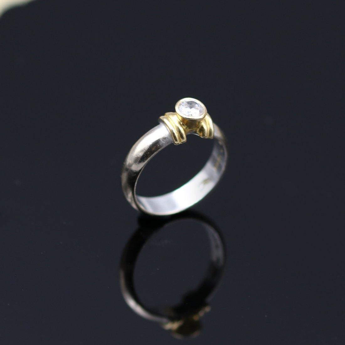 18k Yellow / White Gold Ring. - 3