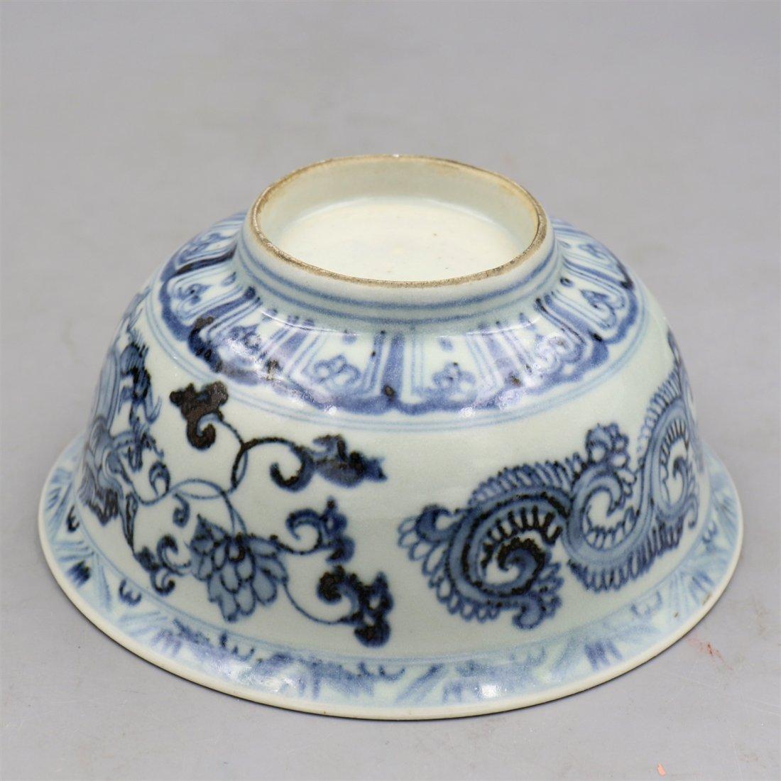 Chinese blue-White Porcelain Bowl. - 4
