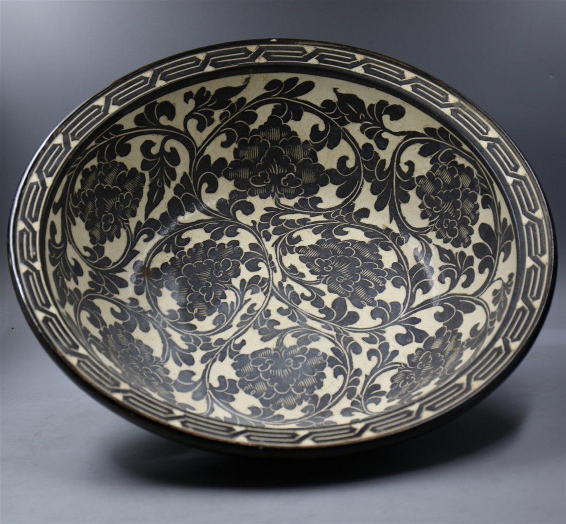 Chinese Black-White Porcelain Big Bowl - 2