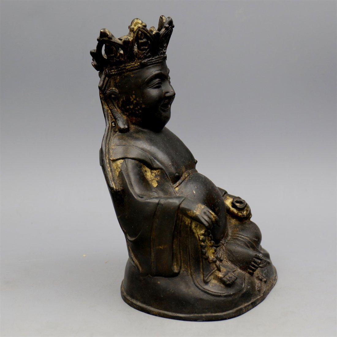 Chinese Bronze Buddha Figure. - 2