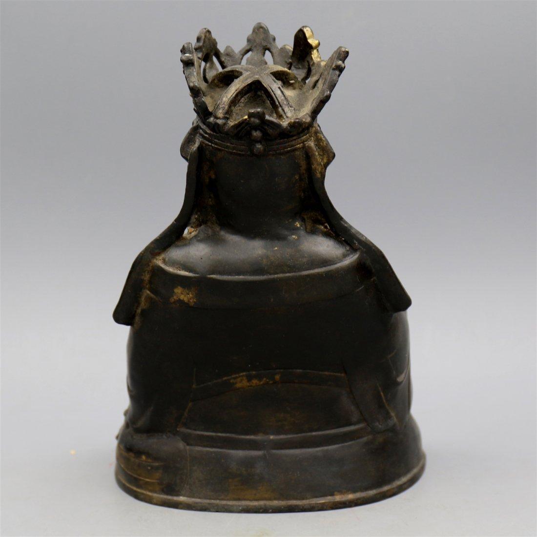 Chinese Bronze Buddha Figure. - 3
