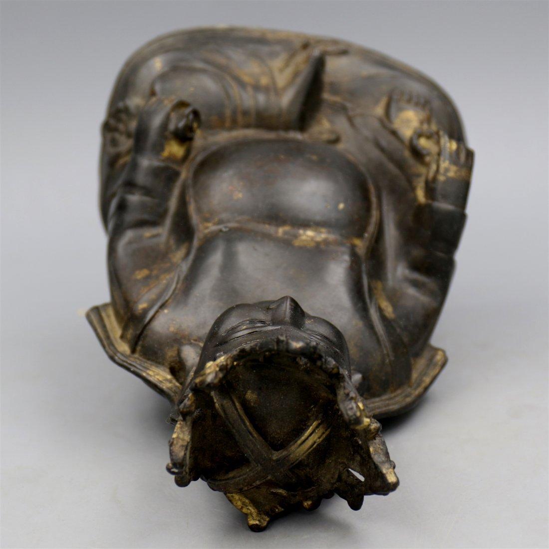 Chinese Bronze Buddha Figure. - 5