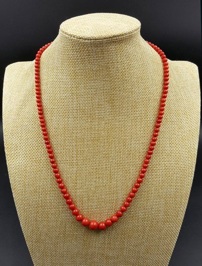 Natural Coral Bead Necklace