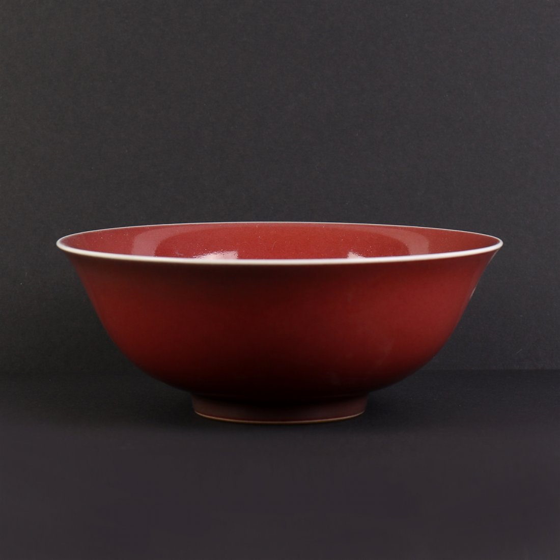 Chinese Red-Glazed Bowl.