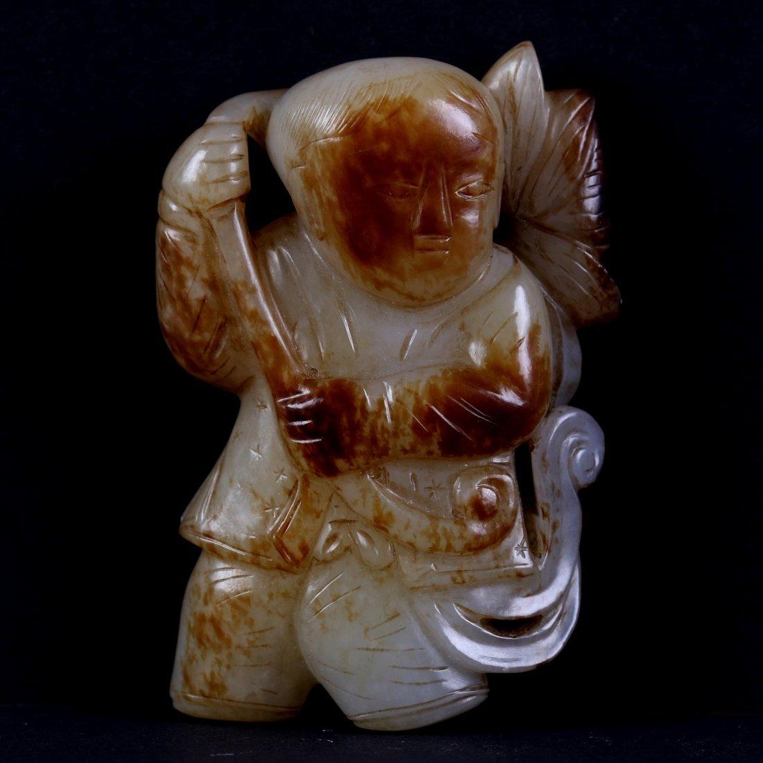 Chinese White Jade Figure.