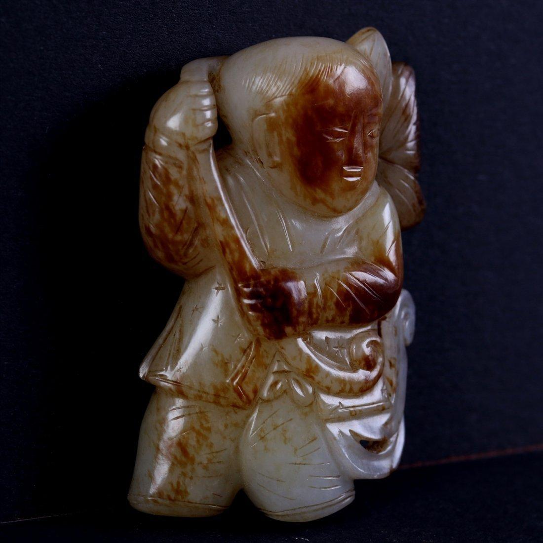 Chinese White Jade Figure. - 2