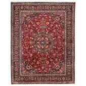 Persian handknotted Mashad rug
