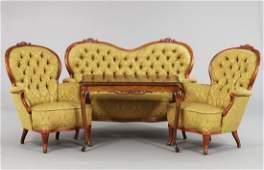 Rococo Parlor Set, 4-Pc, 1900s