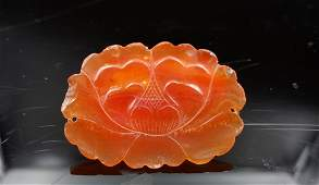 Chinese Agate Carved Ornament Pendant 1800s