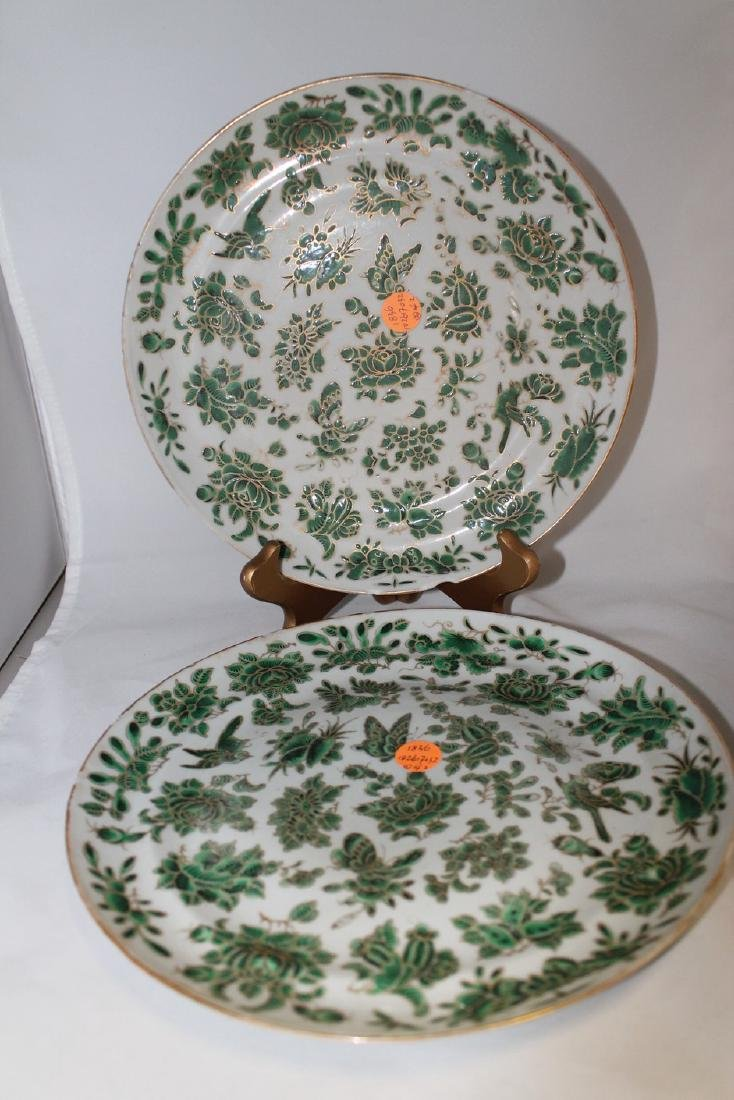 Lot of two Oriental Exported plates