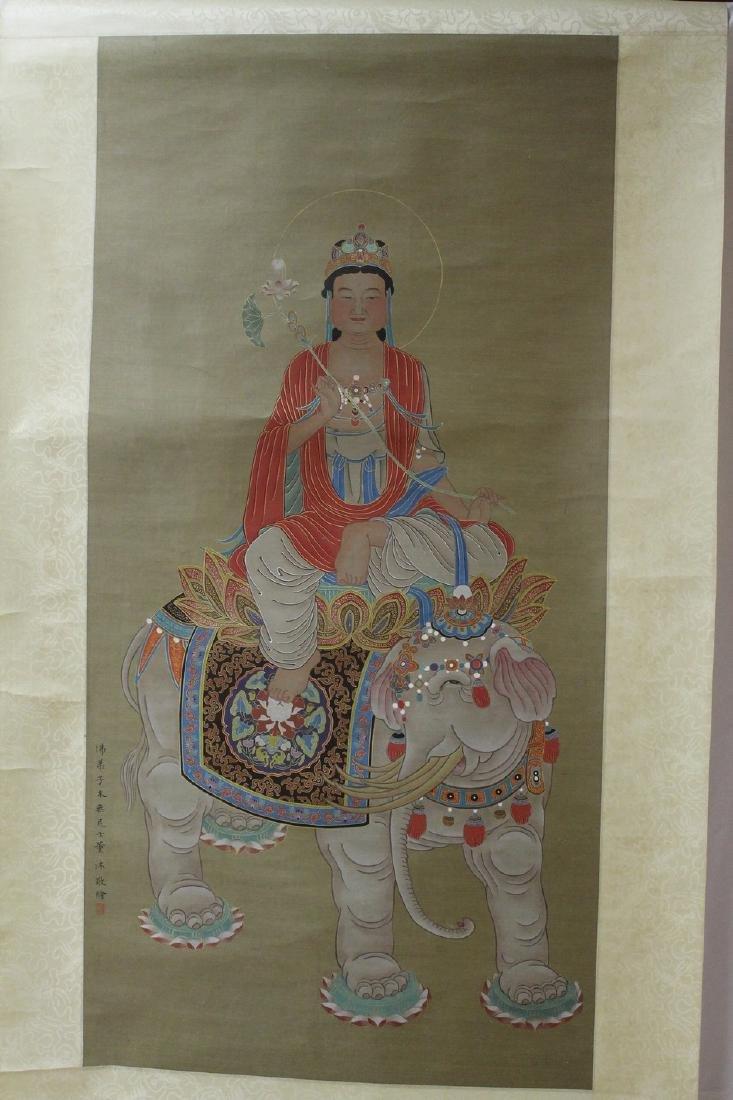 Chinese Buddha Scroll