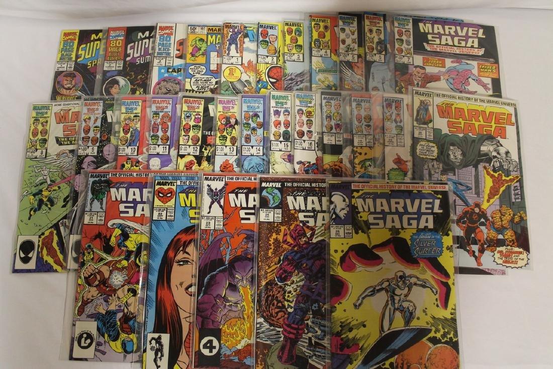 Marvel Super Heroes and Marvel Saga comic lot