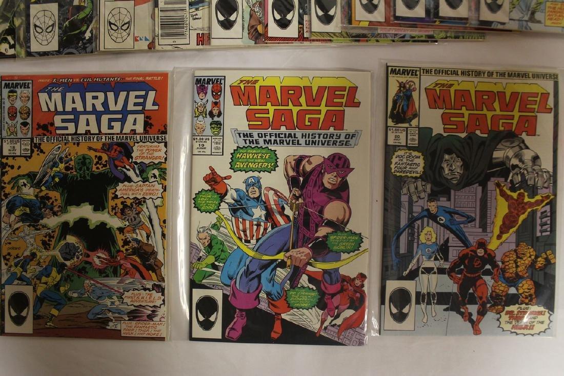 Marvel Super Heroes and Marvel Saga comic lot - 5