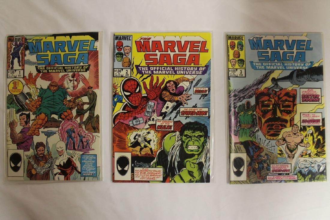 Marvel Super Heroes and Marvel Saga comic lot - 7