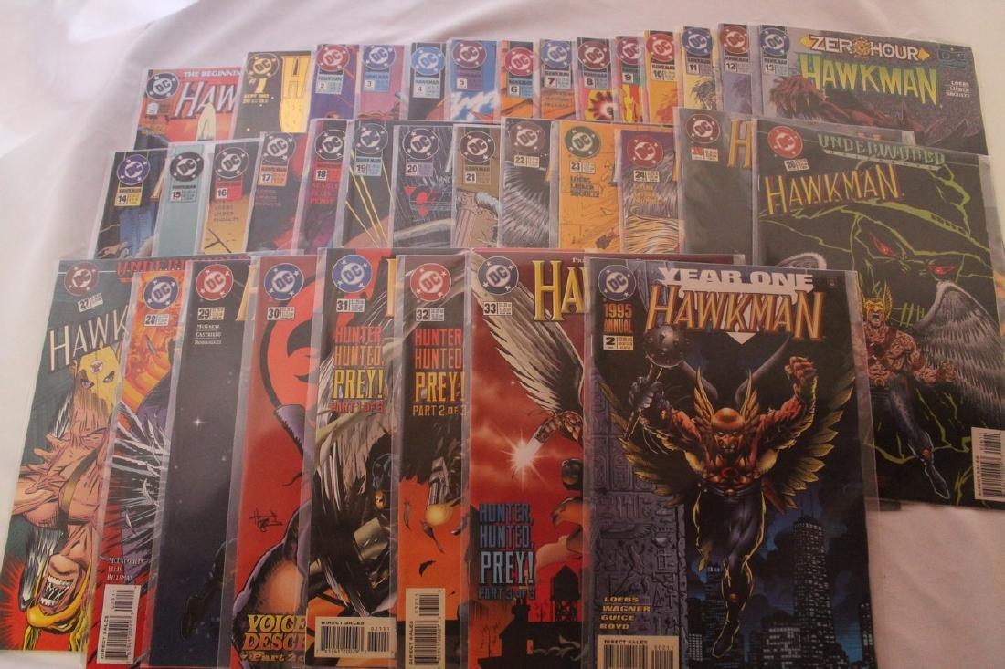 Hawkman comic book lot