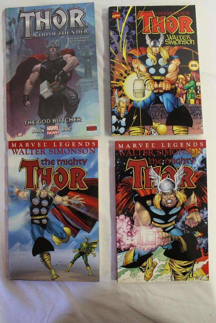 Thor trade paper backs and a hard cover