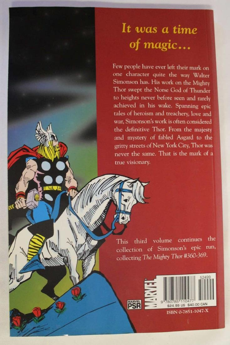 Thor trade paper backs and a hard cover - 8