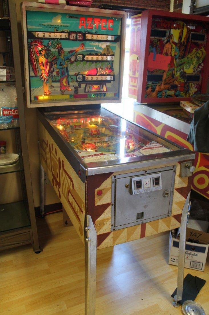 Vintage Aztec Pinball Machine