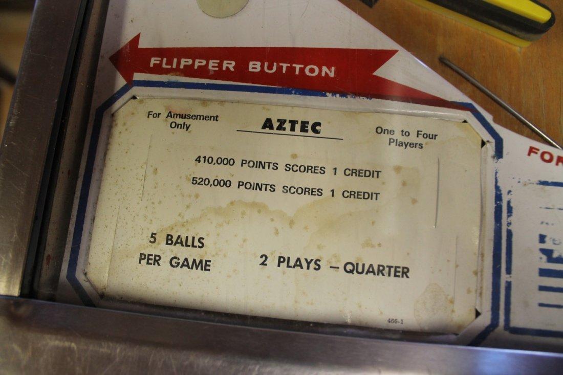 Vintage Aztec Pinball Machine - 5