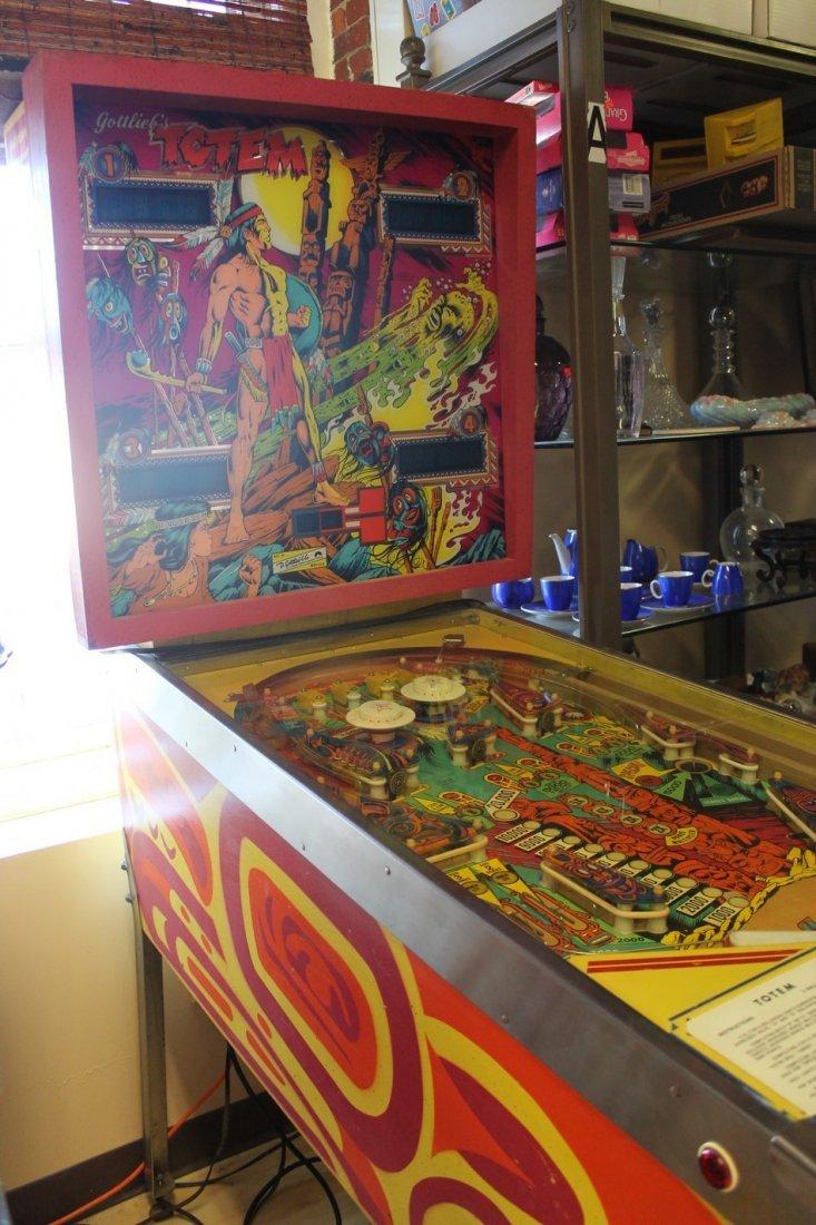 Vintage Aztec Pinball Machine - 9
