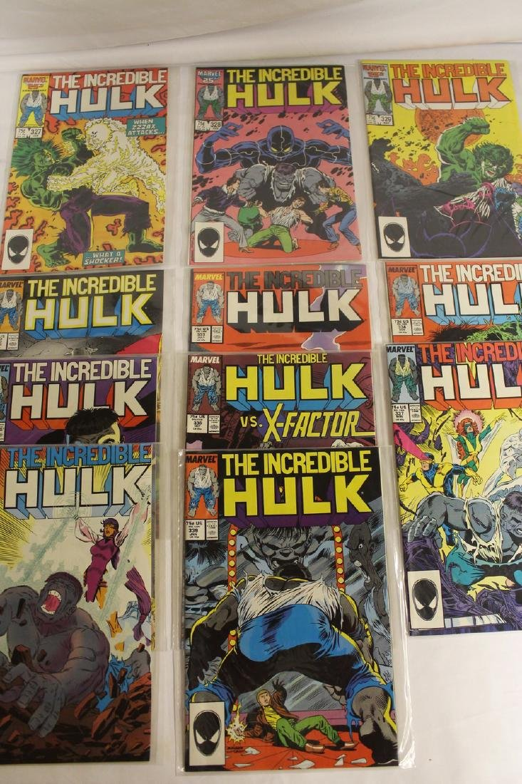 The Incredible Hulk comic book lot