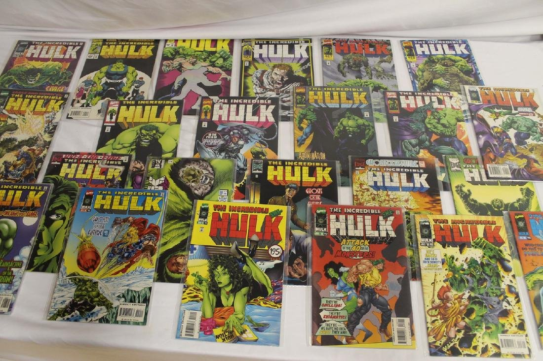 The Incredible Hulk comic book lot