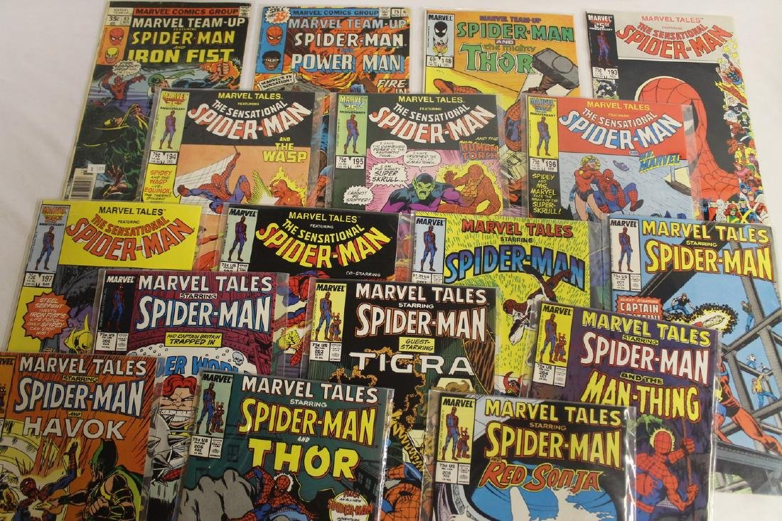 Marvel Tales and Marvel team-up comic book lot