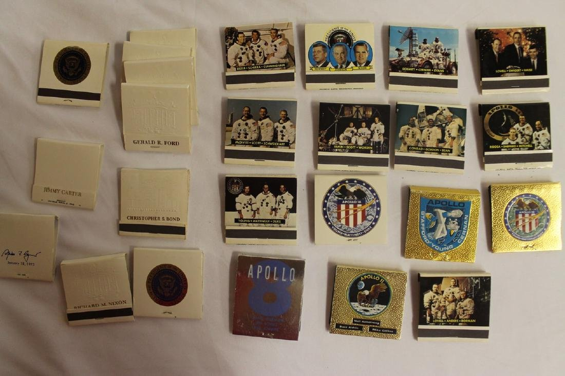 Lot of Commemorative Apollo and Presidential Matchbooks - 3