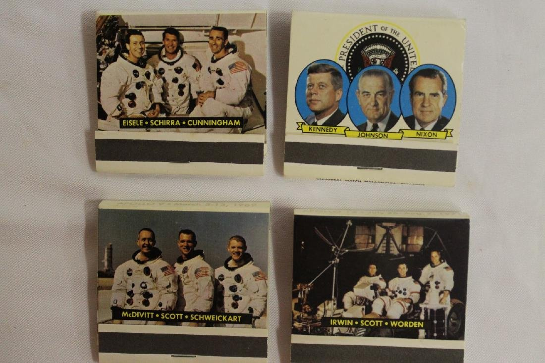 Lot of Commemorative Apollo and Presidential Matchbooks - 6