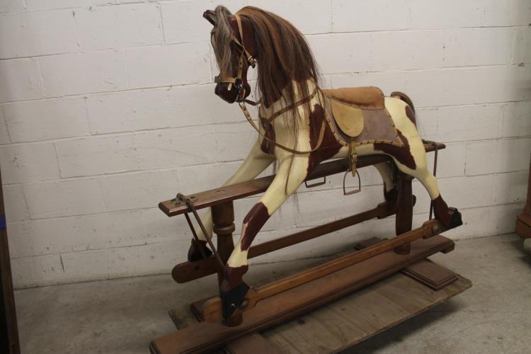 W. Baker hand made rocking horse