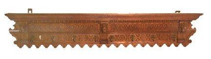 4: Oak carved shelf