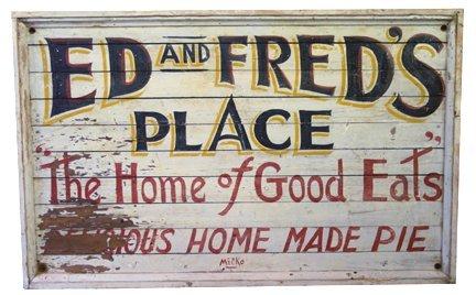 5: Advertising diner sign