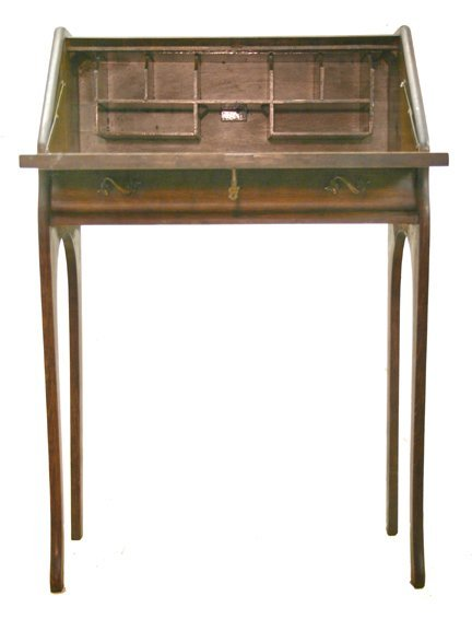 6: Slant front desk/oak