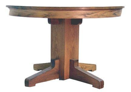 15: Round oak table