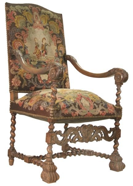 16: Tapestry arm chair
