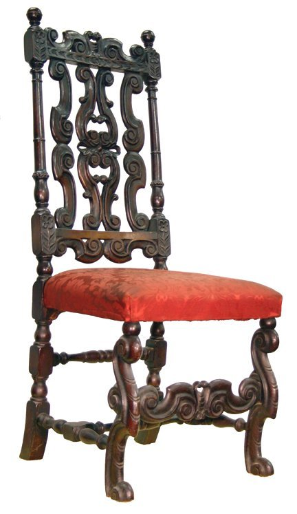 17: Carved chair