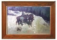 237: O/C painting - western scene