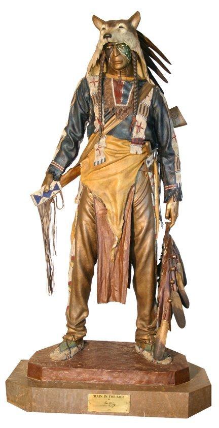 244: Lifesize bronze Indian - McGary